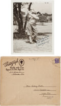 Autographs:Photos, Circa 1930 Bobby Jones Signed Photograph....