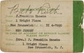 Baseball Collectibles:Others, 1940's Babe Ruth Signed Identification Card. ...