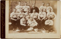 Baseball Collectibles:Photos, Circa 1886 Detroit Wolverines Cabinet Photograph....