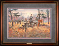 Art, Mort Künstler. Confederate Sunset (1995). 27 x 18. Print on paper;AP22 of 75. Condition: Very good. Accompanied by certific...