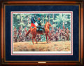 "Art, Mort Künstler. ""There Stands Jackson Like a Stone Wall"" (1991). 25x 16 Inches. Print on paper; AP2 of 50. Condition: Very g..."