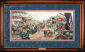 Art, Mort Künstler. Jackson Commandeers the Railroad (1999). 29 x 13Inches. Print on paper; AP22 of 100. Condition:Very good . A...