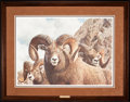 Art, Carl Brenders. Rocky Kingdom - Bighorn Sheep (1991). 30 x 21Inches. Print on paper; SN942 of 1750. Condition: Very good . A...