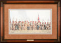 Art, Mort Künstler. Men of Valor (1993). 20 x 11 Inches. Print on paper;AP22 of 50. Condition: Very good. Accompanied by certifi...