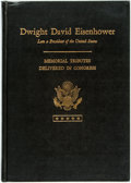 Books:Americana & American History, [Dwight D. Eisenhower, subject]. Memorial Services in theCongress of the United States and Tributes in Eulogy ofDwight...