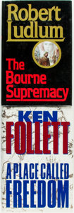Books:Mystery & Detective Fiction, Robert Ludlum. The Bourne Supremacy. [and:] Ken Follett.A Place Called Freedom. Various publishers and ... (Total: 2Items)