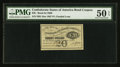 Confederate Notes:Group Lots, $500 1863 $20 Bond Coupon PMG About Uncirculated 50 EPQ.. ...