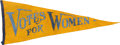 Political:3D & Other Display (1896-present), Woman's Suffrage Pennant....
