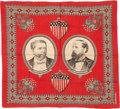 Political:Textile Display (pre-1896), Hancock & English: Jugate Bandanna. ...