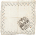 Political:Textile Display (pre-1896), Cleveland & Thurman: Jugate Handkerchief....
