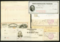 Miscellaneous:Other, Checks and Other Paper Items 1873-1905 Very Fine or Better.. ...(Total: 7 items)