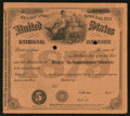 Miscellaneous:Other, Internal Revenue $5 Special Tax Stamp - Dealer in ManufacturedTobacco 1879.. ...