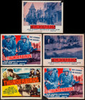 """Movie Posters:War, Thunderbirds & Others Lot (Republic, 1952 & R-1958). TitleLobby Cards (5) & Lobby Cards (17) (11"""" X 14""""). War.. ...(Total: 22 Items)"""