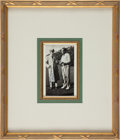 Golf Collectibles:Miscellaneous, 1935 Walter Hagen Double Signed Photograph....