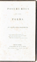Books:Literature Pre-1900, [Anti-Slavery]. Charlotte Elizabeth. Posthumous and OtherPoems. New York: M.W. Dodd, 1847. Original cloth binding. ...