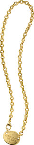 Estate Jewelry:Necklaces, Tiffany & Co. Gold Necklace. ...