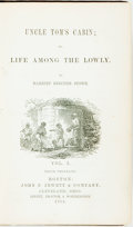 Books:Literature Pre-1900, Harriet Beecher Stowe. Uncle Tom's Cabin; or, Life Among theLowly. Boston: John P. Jewett, 1852. Tenth thousand. Tw...(Total: 2 Items)
