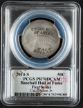 Baseball Collectibles:Others, 2014 Cal Ripken Jr. Signed Baseball Hall of Fame Silver Dollar PCGS PR70DCAM Coin - First Strike....