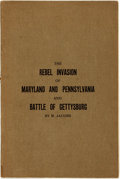 Books:Americana & American History, [Civil War]. M. Jacobs. Notes on the Rebel Invasion of Marylandand Pennsylvania and the Battle of Gettysburg. Getty...