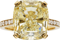 Fancy Brownish-Yellow Diamond, Gold Ring