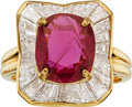 Estate Jewelry:Rings, Oscar Heyman Bros. Ruby, Diamond, Gold Ring. ...