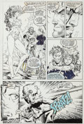 Original Comic Art:Panel Pages, Jim Lee X-Men V2#8 Page 15 Rogue Original Art (Marvel,1992)....