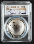 Baseball Collectibles:Others, 2014 Ozzie Smith Signed Baseball Hall of Fame Silver Dollar PCGSPR70DCAM Coin....