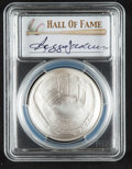 Baseball Collectibles:Others, 2014 Reggie Jackson Signed Baseball Hall of Fame Silver Dollar PCGSMS70 Coin....