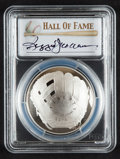 Baseball Collectibles:Others, 2014 Reggie Jackson Signed Baseball Hall of Fame Silver DollarPR70DCAM Coin....