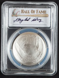 Baseball Collectibles:Others, 2014 Gaylord Perry Signed Baseball Hall of Fame Silver Dollar PCGSMS70 Coin....