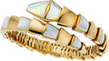 Estate Jewelry:Bracelets, Bvlgari Mother-of-Pearl, Gold Bracelet. ...