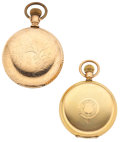 Timepieces:Pocket (post 1900), Elgin & Waltham Hunter's Case Pocket Watches Runners. ... (Total: 2 Items)