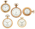 Timepieces:Pocket (post 1900), A Lot Of Five Pocket Watches For Parts Or Repair. ... (Total: 5Items)