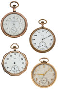 Timepieces:Pocket (post 1900), A Lot Of Four Pocket Watches For Parts Or Repair. ... (Total: 4Items)
