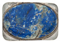 Estate Jewelry:Other , Lapis Lazuli, Silver Belt Buckle. ...