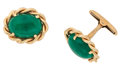Estate Jewelry:Cufflinks, Emerald, Gold Cuff Links. ...