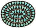 Estate Jewelry:Other , Turquoise, Silver Belt Buckle, Zuni. ...