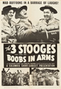 "Movie Posters:Comedy, The Three Stooges in Boobs in Arms (Columbia, 1940). One Sheet (27""X 41"").. ..."