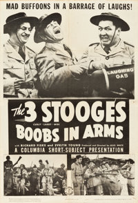 "The Three Stooges in Boobs in Arms (Columbia, 1940). One Sheet (27"" X 41"")"