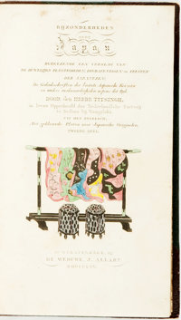 [Isaac Titsing]. Bijzonderheden over Japan. With one hand-colored fold-out engraving and a hand