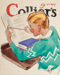 Mainstream Illustration, EARL OLIVER HURST (American, 1895-1958). Collier's magazinepreliminary cover, early 1930s. Watercolor on paper laid on ...