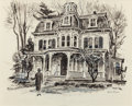 Mainstream Illustration, AUSTIN BRIGGS (American, 1909-1973). Victorian Mansion. Mixed media on paper. 16.25 x 20.25 in. (sight). Signed lower ri...