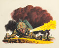 Mainstream Illustration, FRED LUDEKENS (American, 1900-1982). Soldier with Flamethrower,Nash-Kelvinator advertisement art, 1944. Gouache on boar...