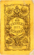 Books:Americana & American History, [Almanac]. Robert Thomas. The Farmer's Almanack for 1877.Worcester: Edward Whitney, [1877]. Original wrappers. Some...