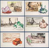 MINERAL SPECIMENS AND THE MINES THEY CAME FROM: LIMITED EDITION LITHOGRAPHS Artist: CARL R. BENTLEY
