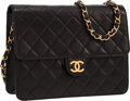 Luxury Accessories:Bags, Chanel Black Quilted Lambskin Leather Small Flap Bag with GoldHardware . ...