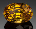 Gems:Faceted, FINE GEMSTONE: YELLOW SAPPHIRE - 4.79 CT.. Sri Lanka. ...