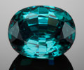Gems:Faceted, FINE GEMSTONE: ELBAITE var. INDICOLITE TOURMALINE - 8.41 CT.. Nigeria. ...