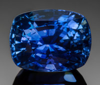 VERY FINE GEMSTONE: BLUE SAPPHIRE - 4.98 CT. with GIA CERT Sri Lanka