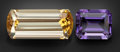 Gems:Faceted, GEMSTONE PARCEL: PURPLE SCAPOLITE & GOLD SCAPOLITE -7.79 TCW.Tanzania. ... (Total: 2 Items)